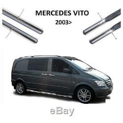2 On Foot Tube Stainless Mercedes Vito Viano W639 2003 To 2014 Extra Long