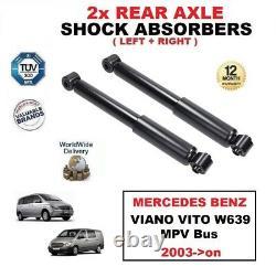 2x Rear Shock Absorbers Set For Mercedes Benz Viano Vito W639 Mpv Bus 2003-