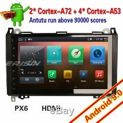 9dab Android 9.0 + Car Mercedes A / B Class W169 W245 Vito Viano Sprinter Px6