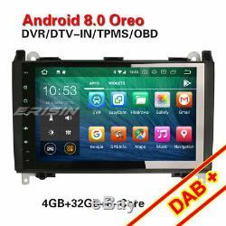 9octa-core Android 8.0 Dab + Car Mercedes A / B Class Viano Vito Sprinter 4g