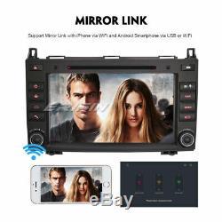 Android 9.0 CD Radio Dab + Gps Mercedes Benz A / B Class Viano Vito Sprinter Obd