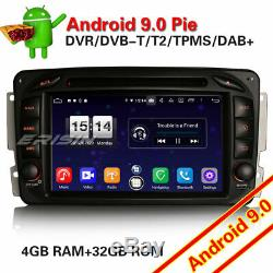 Android 9.0 Dab + Radio Navi Mercedes Benz C / G / Clk Class W203 W209 Viano Vito