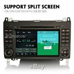 Android 9.0 Radio Dab + Bt Tnt Mercedes A / B Class Viano Vito Sprinter Crafter
