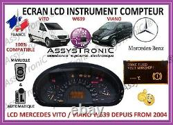 Ecran LCD Compteur Odb By Mercedes Vito / Viano From 2004! Under 48h