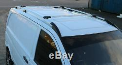 Mercedes Vito Long 2003+ Roof Rails And Aluminum Crossbars