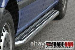 Mercedes Vito Truck Viano Side Bars Not C2 Stainless Steel Short Long 2004- To