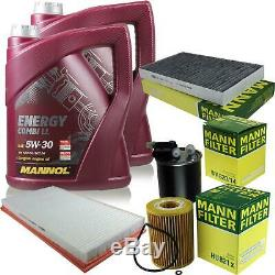 10L Mannol 5W-30 Break Ll + Mann-Filter Mercedes-Benz Vito / Boîte Mixto 122 CDI