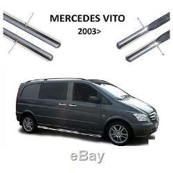 2 Marche Pied Tube Inox Mercedes Vito Viano W639 2003 A 2014 Extra Long