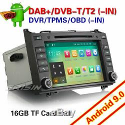 7DAB+Autoradio Android 9.0 Mercedes Class A/B Vito Sprinter VianoVito W169 W639