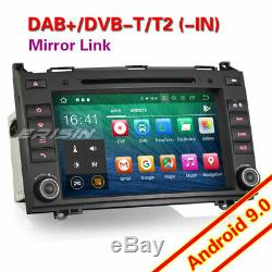 8Android 9.0 Autoradio DAB+CD GPS Mercedes Classe A/B Vito Sprinter Viano W639