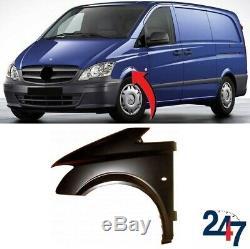 Aile avant avec Clignotant Trou Gauche Compatible Mercedes Benz Vito W639 10-15