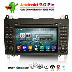 Autoradio Android 9.0 DAB+TNT BT Mercedes A/B Classe Sprinter Viano Vito Crafter