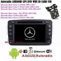 Autoradio Mercedes Classe C-A-CLK-VITO-VIANO-G (android-GPS-DVD-BT-USB + CAMERA)