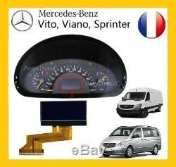 ECRAN OBD COMPTEUR LCD de MERCEDES VITO / VIANO à partir de 2004 VENDEUR PRO