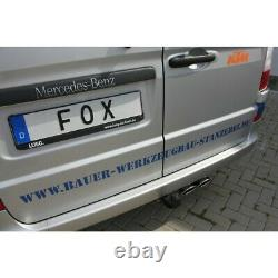Fox Échappement Sport Inox Silencieux Mercedes Vito Viano W639 2x115x85mm