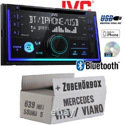 JVC Autoradio pour Mercedes Vito Viano 639 CD Android Apple MP3 USB Montage