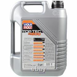 LIQUI MOLY 10L 5W-30 Huile + Mann-Filter Pour Mercedes-Benz Vito Bus W639 122