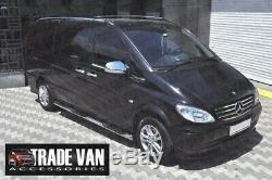 Mercedes Vito Viano Guidon Latéral Pas Acier Inoxydable 76MM Viper BB05 Compact