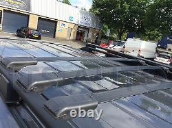 Mercedes Vito Viano W639 Verrouillable Noir Cross Barres de Toit 90 Capacité x3